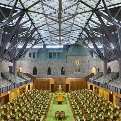 Le projet de réhabilitation de L'Édifice de l'Ouest du Parlement canadien remporte un Certificat de mérite de L'IRAC