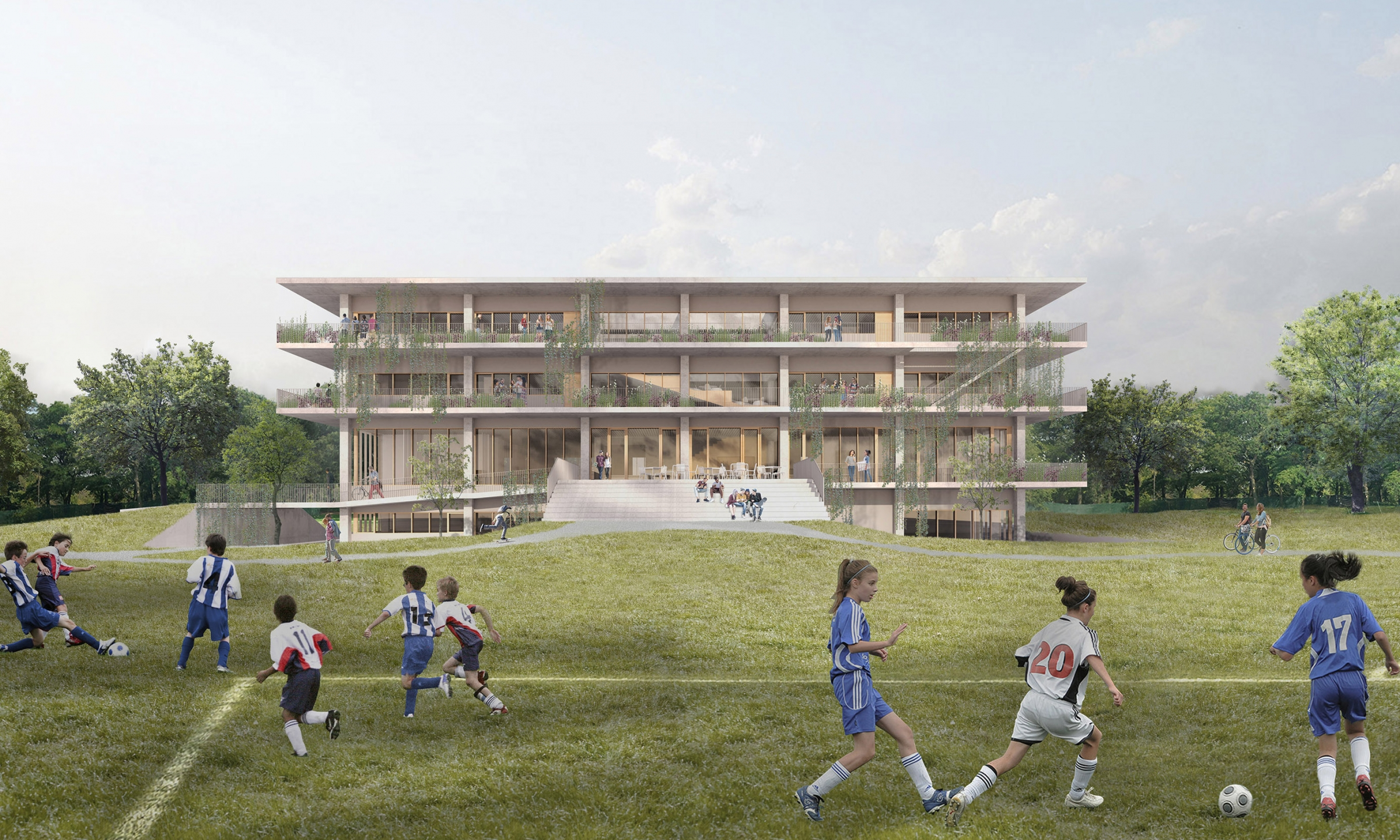 Collège Saint-Anne, New Highschool Pavilion<br>In progress<br>