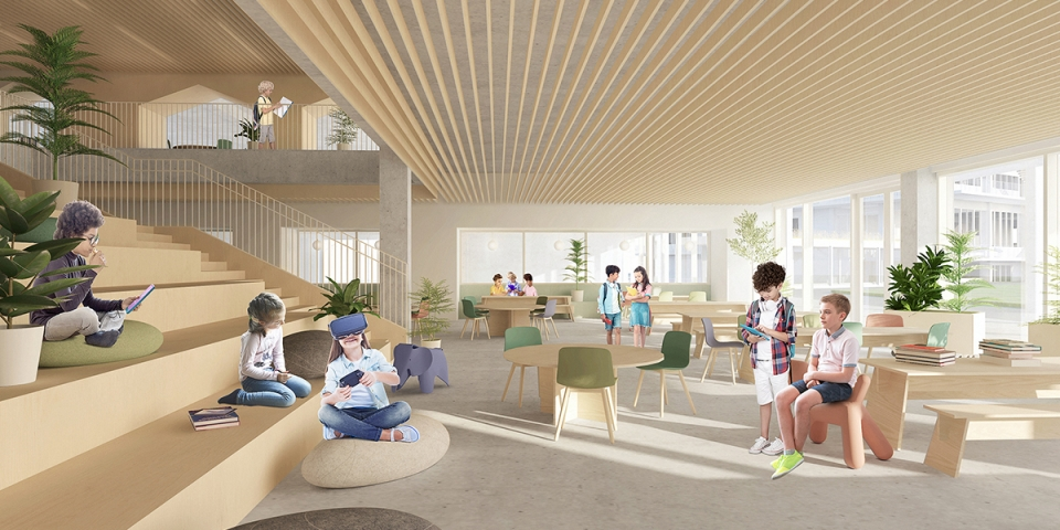 Collège Saint-Anne, New Preschool and Primary School<br>In progess<br>
