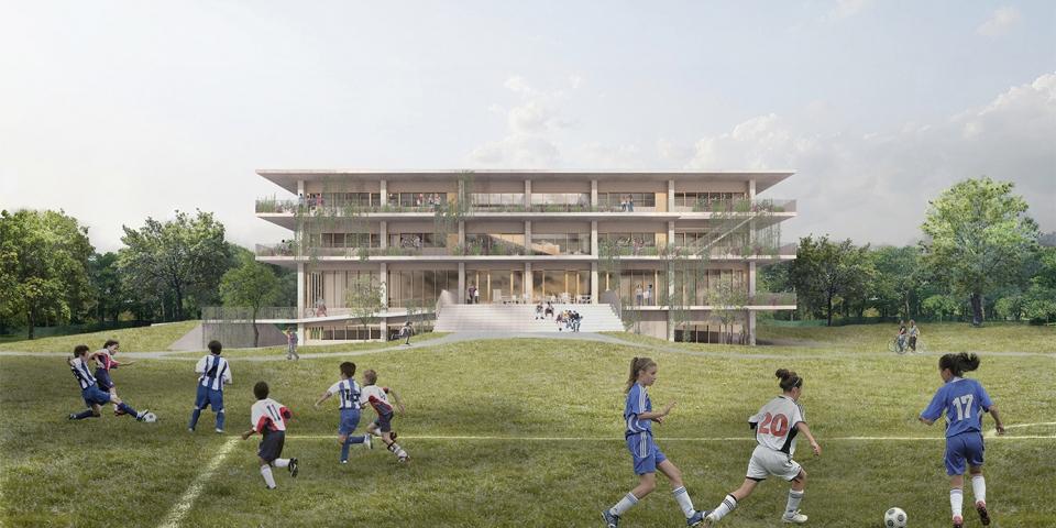 Collège Saint-Anne, nouveau pavillon secondaire Dorval<br>En cours<br>